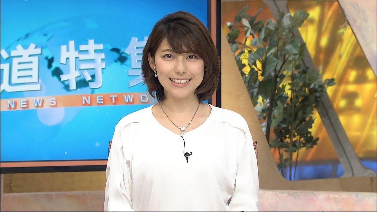 <上村彩子>アナウンサーのDカップ着衣がけしからんwww